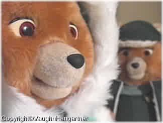 Teddy Ruxpin* with a hard plastic nose. -Image-